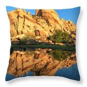 Barker Dam Pond Reflections Throw Pillow