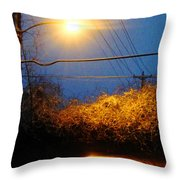 Barksdale Blue And Yellow  Throw Pillow
