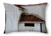 Barn - Geometry - Red Roof Throw Pillow