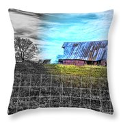 Barn 23 - Featured In Comfortable Art  And Artists Of Western Ny Groups Throw Pillow