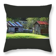 Barn And Chicken Coop Throw Pillow
