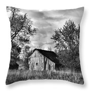 Barn And Clouds Throw Pillow