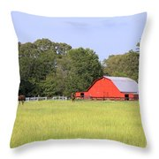 Barn And Pasture Throw Pillow