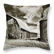 Barn And Silo Throw Pillow