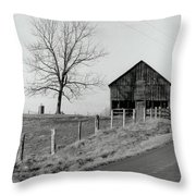 Barn And Tree Throw Pillow
