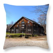Barn At Billie Creek Village Throw Pillow