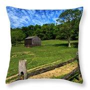 Barn At Hartwood Acres Under Beautiful Sky Throw Pillow