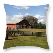 Barn At Yonah Mountain Winery 001 Throw Pillow