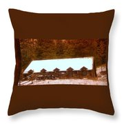 Barn Built By The Ccc At The Tieton Work Center Throw Pillow