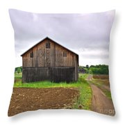 Barn By The Road Square Throw Pillow