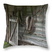 Barn - Carthage Missouri Throw Pillow