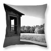 Barn Corner Throw Pillow