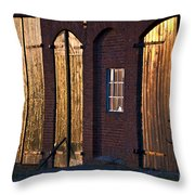 Barn Door Lighting Throw Pillow