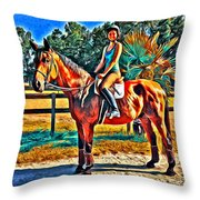 Barn Horse Two Throw Pillow