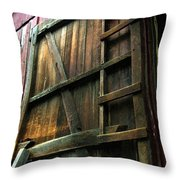 Barn In May Moonlight Throw Pillow