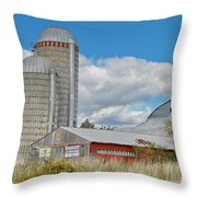 Barn In The Clouds Throw Pillow