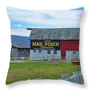 Barn - Mail Pouch Tobacco Throw Pillow