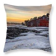 Barn Near The Weyburn Throw Pillow