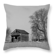 Barn On A Hill In Iowa Throw Pillow