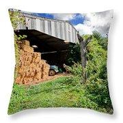 Barn On Small Farm Throw Pillow