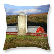 Barn On The River Rd. Throw Pillow
