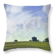 Barn On Top Of The Hill Throw Pillow