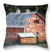 Barn On Va Creeper Trail Throw Pillow