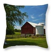 Barn Painting Throw Pillow