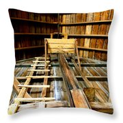 Barn Rafters 2 Throw Pillow