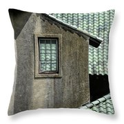 Barn Roofs At The Crane Estate Throw Pillow