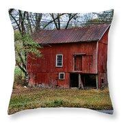 Barn - Seen Better Days Throw Pillow