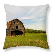 Barn On The Field Throw Pillow