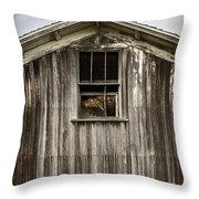 Barn Window Throw Pillow