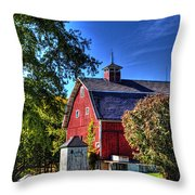 Barn With Out-sheds Brunner Family Farm Throw Pillow