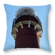 Barnegat Light - Lighthouse Top Throw Pillow