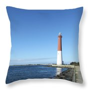 Barnegat Light - New Jersey Throw Pillow