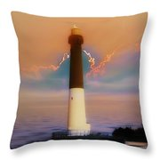 Barnegat Lighthouse In New Jersey Throw Pillow