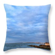 Barnegat Lighthouse Throw Pillow by Olivier Le Queinec