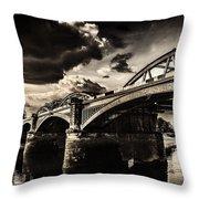 Barnes Rail Bridge Throw Pillow