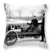 Barney Oldfield And Henry Ford Throw Pillow