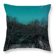 Barns-featured In Visions Of The Night Group Throw Pillow