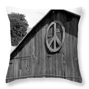 Barns For Peace Throw Pillow