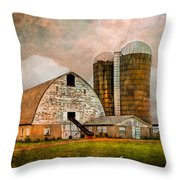 Barns In The Country Throw Pillow
