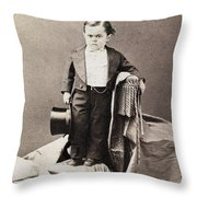 Barnum Admiral Dot, C1870 Throw Pillow