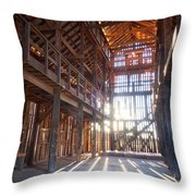 Barnwood Cathedral Throw Pillow