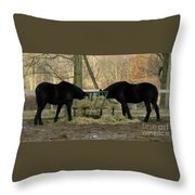 Barnyard Beauties Throw Pillow
