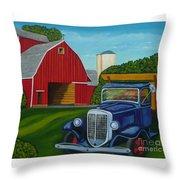 Barnyard Truck Throw Pillow