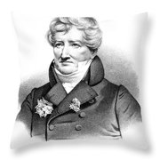 Baron Georges Cuvier (1769-1832) Throw Pillow