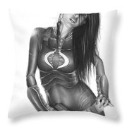 Baroness Throw Pillow by Pete Tapang