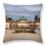 Baroque Landmark - Buchlovice Castle Throw Pillow